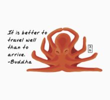 Octopus Zenimal with Buddha Quote One Piece - Long Sleeve