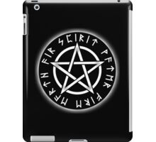 WICCA, Black, Pentacle, Pentagram, Witch, Wizard, Modern, Pagan, Witchcraft, Religion, Cult iPad Case/Skin