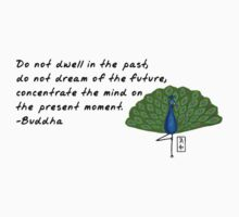 Peacock Zenimal with Buddha Quote T-Shirt