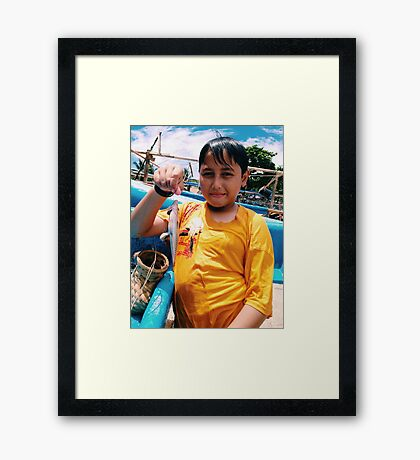 Ilham, The Young Fisherman Framed Print