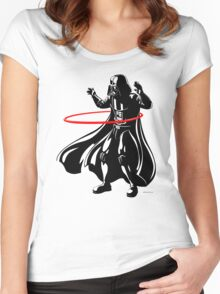 Darth Vader loves to Hula Hoop Women's Fitted Scoop T-Shirt