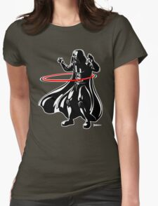 Darth Vader loves to Hula Hoop Womens Fitted T-Shirt