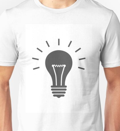 Lightbulb icon. Idea symbol Unisex T-Shirt