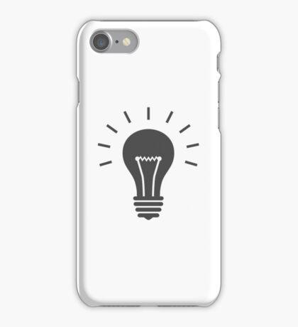Lightbulb icon. Idea symbol iPhone Case/Skin