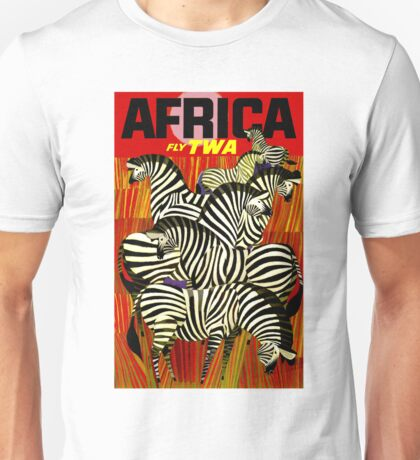 """TWA"" Fly to Africa Travel Print Unisex T-Shirt"