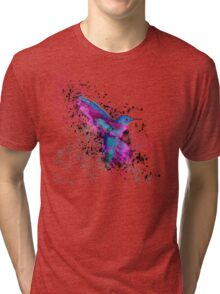 Splash of a Hummingbird Tri-blend T-Shirt