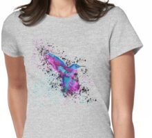Splash of a Hummingbird Womens Fitted T-Shirt