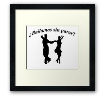 Silhouette of dancing couple Framed Print