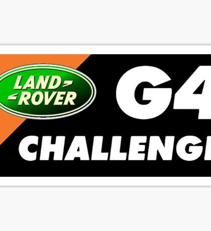 Land Rover G4 Challenge Sticker