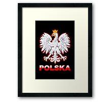 Polska - Polish Coat of Arms - White Eagle Framed Print