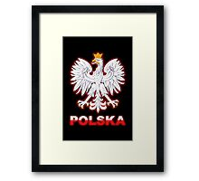 Polska - Polish Coat of Arms - White Eagle Framed Print