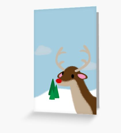 Rudolph the red nose reindeer  Greeting Card