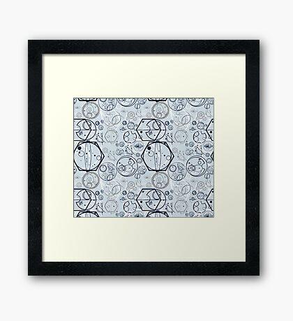 Gallifrey Symbols Framed Print