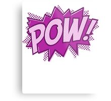 POW! COMIC BOOK Graphic Metal Print
