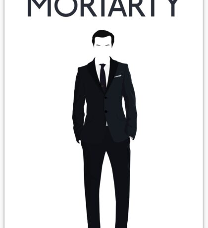 Moriarty print Sticker