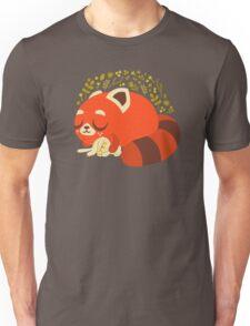 Sleeping Red Panda and Bunny Unisex T-Shirt