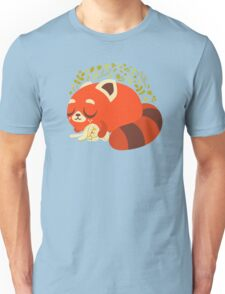 Sleeping Red Panda and Bunny Unisex T-Shirt