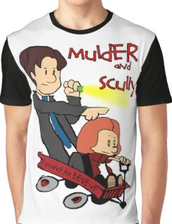 Mulder and Scully Graphic T-Shirt