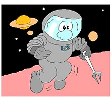 Cartoon Astronaut In Space by kwg2200