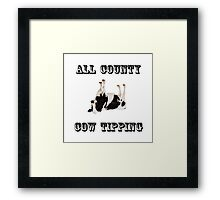 Cow Tipping Framed Print