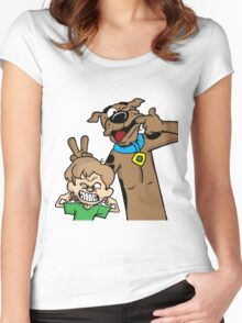 Scooby and Shaggy Women's Fitted Scoop T-Shirt