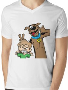 Scooby and Shaggy Mens V-Neck T-Shirt