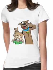 Scooby and Shaggy Womens Fitted T-Shirt