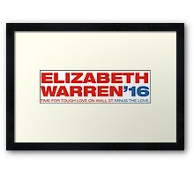 Elizabeth Warren For President Framed Print