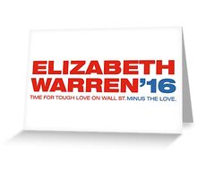 Elizabeth Warren For President Greeting Card