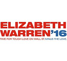 Elizabeth Warren For President Photographic Print