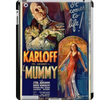 Mummy Boris Karloff Movie Vintage Poster iPad Case/Skin