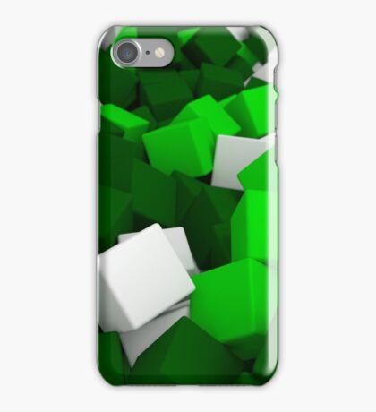 3d bulk of green cubes iPhone Case/Skin