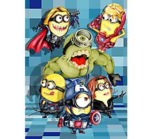 Cute caricature parody comics superheroes Group Photographic Print