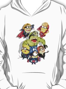Cute caricature parody comics superheroes Group T-Shirt