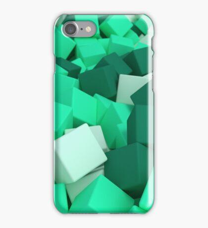3d bulk of mint green cubes iPhone Case/Skin