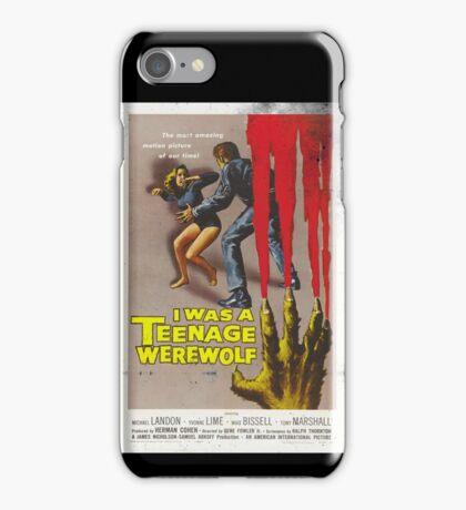 I Was A Teenage Werewolf Vintage Movie Poster iPhone Case/Skin