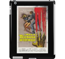 I Was A Teenage Werewolf Vintage Movie Poster iPad Case/Skin