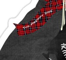 Preppy Black Lab Dog-Winter Ice Skates Sticker