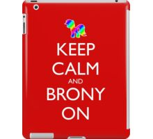 Keep Calm and Brony On - Red iPad Case/Skin