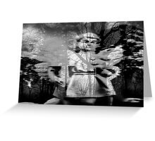 Angel in Pinner Black & white Greeting Card