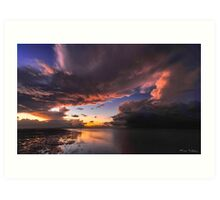 Storm & Tempest over the Lagoon I Art Print