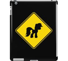 Pony Traffic Sign - Diamond iPad Case/Skin