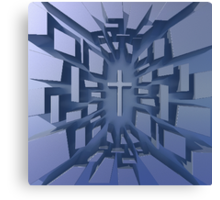 Abstract 3D Christian Cross Canvas Print