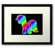 Rainbow Pony Silhouette Framed Print