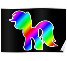 Rainbow Pony Silhouette Poster