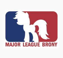 Major League Brony - Logo & Text Kids Clothes