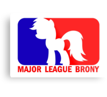 Major League Brony - Logo & Text Metal Print