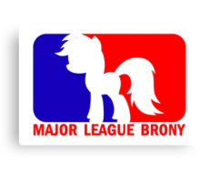Major League Brony - Logo & Text Canvas Print