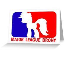 Major League Brony - Logo & Text Greeting Card