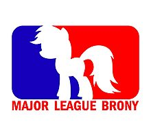 Major League Brony - Logo & Text Photographic Print